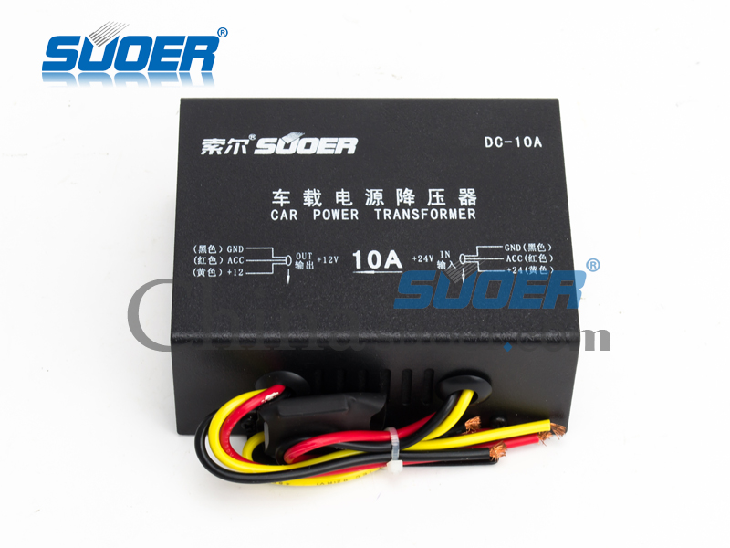 DC 24V to DC 12V 10A Power Transformer