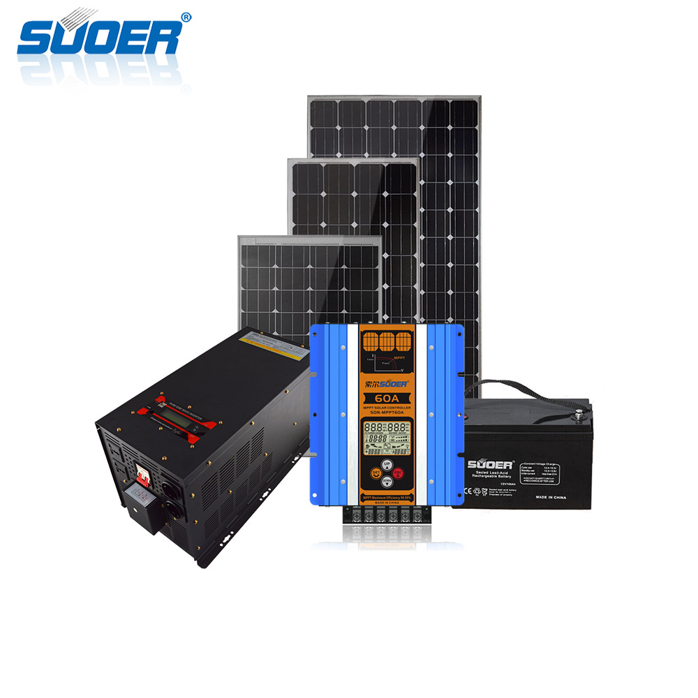 5000w off-grid home solar panel power system