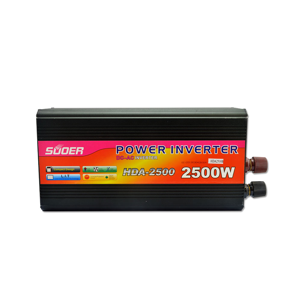 Suoer inverter 24v 220v 2500w power inverter