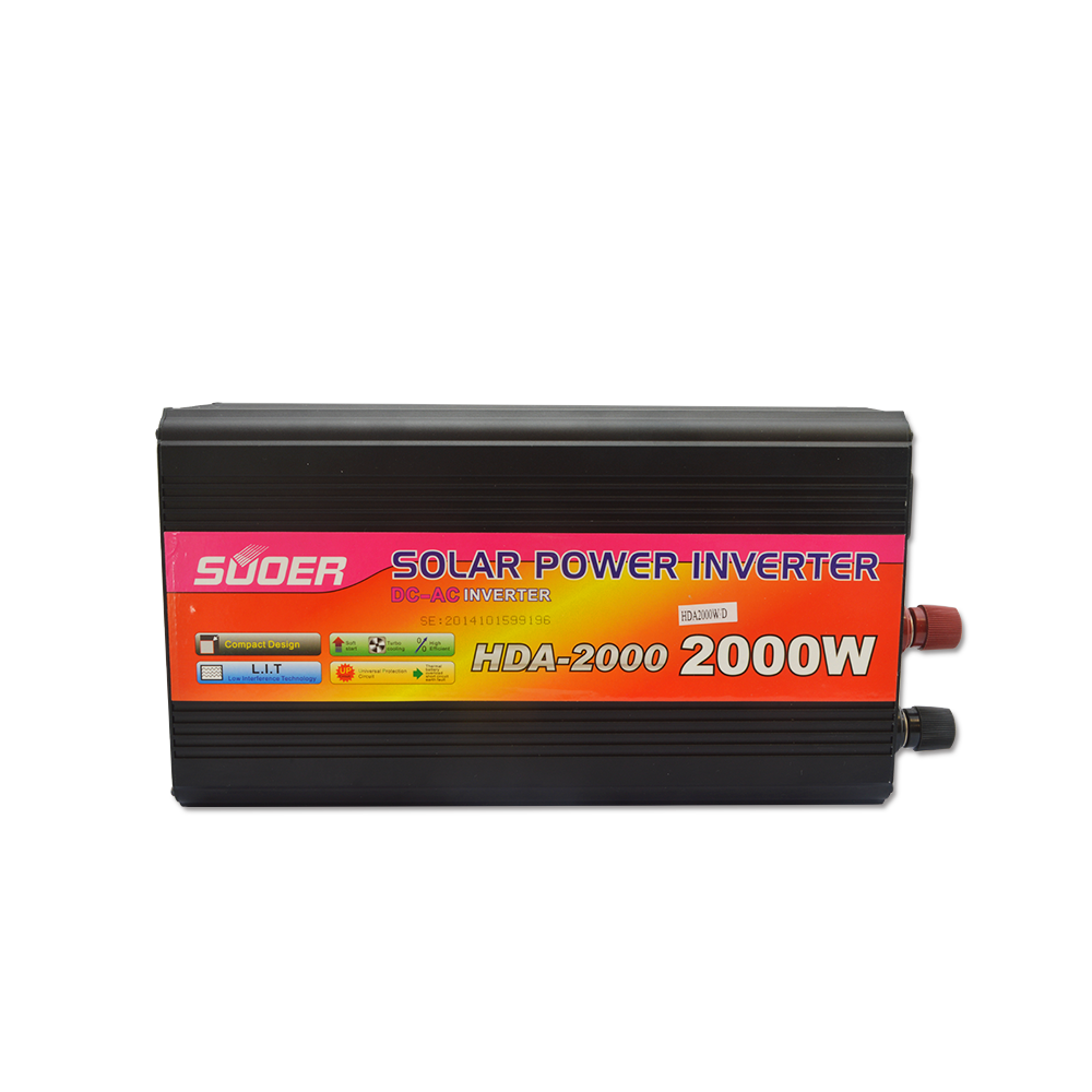 Suoer inverter 24v 220v 2000w power inverter with charger