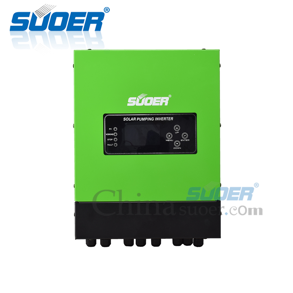 Suoer Factory Price 5.5Kw 380V Off Grid Hybrid Solar Water Pump Inverter