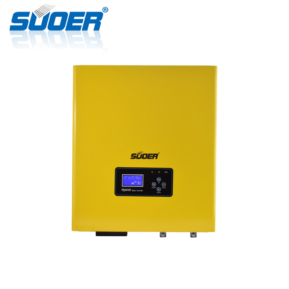 Suoer 5000va 48VDC 220VAC 5KVA Pure Sine Wave Low Frequency Hybrid Solar Inverter with 50A Charger and MPPT Solar Controller 80A