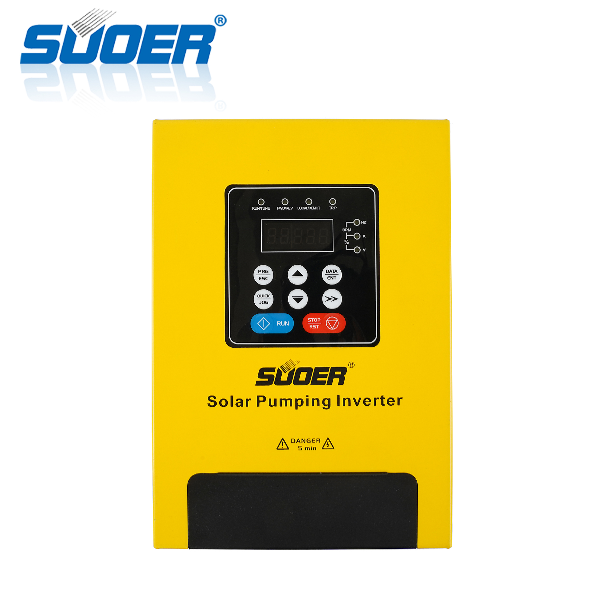 Suoer PV100-2R2G-SS high efficiency 220V 2.2kw automatic single-phase solar water pumping inverter