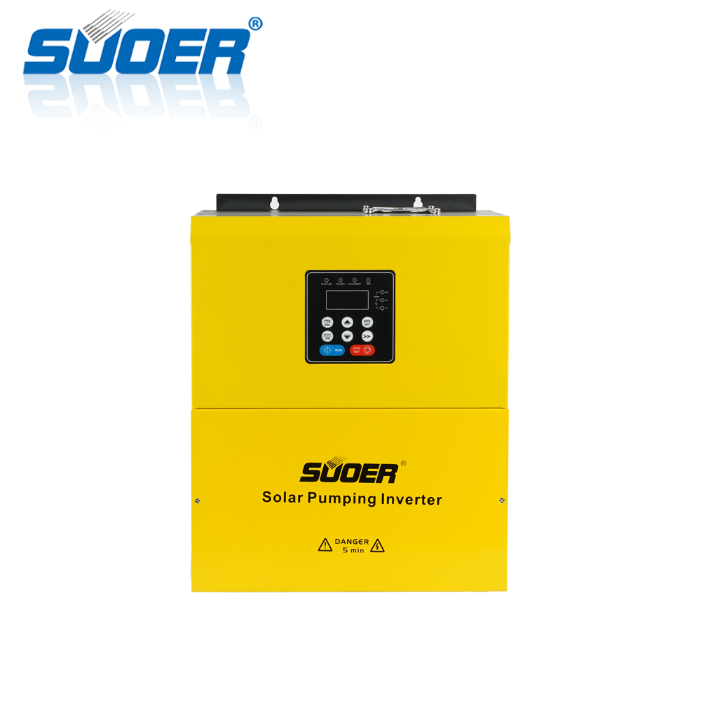 Suoer 380V 7.5kw 11kw 15kw 18kw Three-phase inverter multiple safe protections solar water pumping inverter