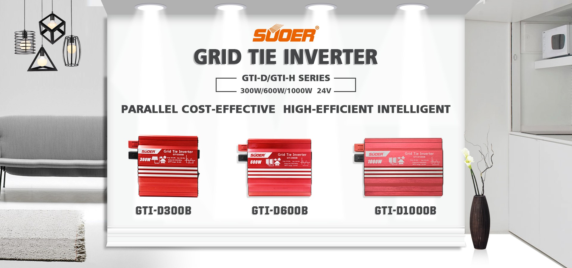 Suoer MPPT Grid-connected Photovoltaic Inverter