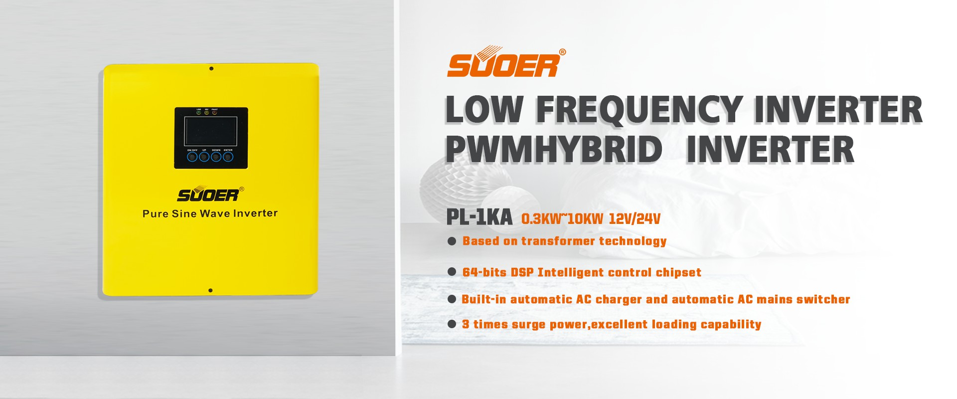 Low Frequency Pure Sine Wave Hybrid Inverter